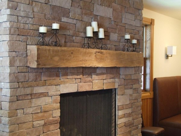 reclaimed mantel